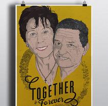 Together & Forever / vector. Un proyecto de Ilustración de Gustavo Solana         - 31.05.2014