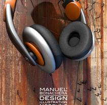 Oil Earphones . A Photograph, and 3D project by Manuel Bonachera         - 27.06.2014