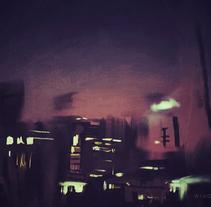 Pintando en la oscuridad. Um projeto de Pintura de David Navas         - 09.07.2014