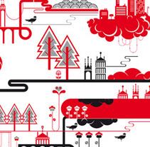Lona y paneles infográficos. Un proyecto de Instalaciones y Diseño gráfico de Maialen Echaniz Olaizola - Sábado, 26 de mayo de 2012 00:00:00 +0200