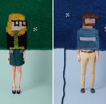 Anuncio tricot Illa Diagonal. Um projeto de Publicidade e Artesanato de Alícia Roselló Gené - 14-06-2012