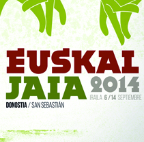 Propuesta cartel Euskaljaiak 2014 (Donostia - San Sebastian). A Art Direction, and Graphic Design project by lander  telletxea Armendariz - 15-07-2014