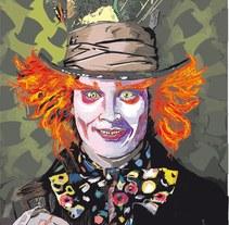 Ilustración con flash Tim Burton . Un proyecto de Ilustración de José Antonio  Serrada García         - 17.07.2014