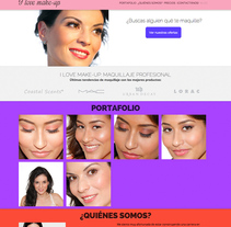 Website: Ilove-makeup . A UI / UX, Br, ing, Identit, Graphic Design, and Web Design project by Marcos Camacho García         - 19.07.2014