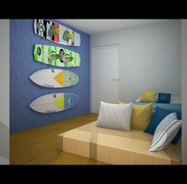 Wakeboarder room. A Interior Architecture&Interior Design project by Cristina Torrens coll         - 09.10.2013
