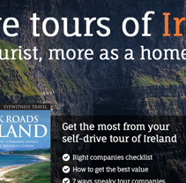 Exploring Ireland homepage design. A Web Design project by Six Design - 11-08-2014