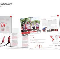 Publicación para Banco Santander. A Advertising, and Editorial Design project by Belen Sambucety         - 11.08.2014