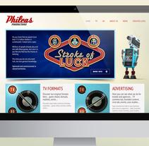 Web Corporativa Phileas Productions. Um projeto de Web design e Desenvolvimento Web de Mokaps          - 26.03.2014