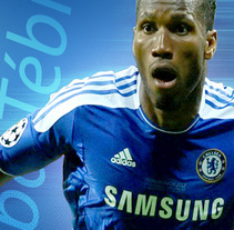 Póster Didier Drogba_ChelseaFC. A Illustration, and Graphic Design project by Eloy Pardo Rouco         - 07.09.2014