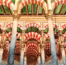 Acuarela: Mezquita de Córdoba. A Design, Illustration, and Architecture project by Tamara Castro Laplaña - 20-09-2014