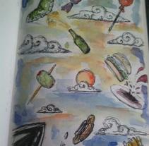 Aperitivo soñado. Um projeto de Pintura de Abel Belmonte LLedó         - 24.09.2014