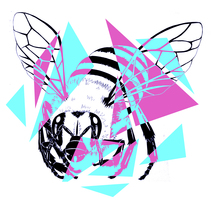 Abejas geometricas. A Illustration, Fine Art, and Graphic Design project by saravidigal         - 05.10.2014