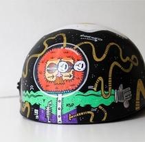 Helmet . Um projeto de Design, Ilustração e Design de personagens de Maikol De Sousa         - 06.10.2014