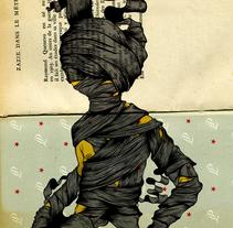 Atrapado. Un proyecto de Bellas Artes, Ilustración y Serigrafía de Óscar Lloréns - Viernes, 10 de octubre de 2014 00:00:00 +0200
