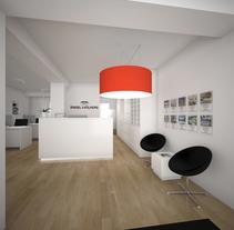 3D Oficinas Engel & Völkers. Un proyecto de 3D, Arquitectura interior y Diseño de interiores de Sergio Fernández Moreno         - 18.10.2014