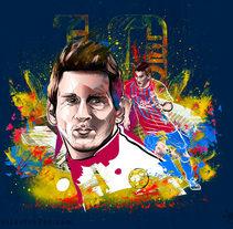 Leo messi. Um projeto de Ilustração, Publicidade e Design gráfico de osval         - 22.10.2014