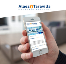 Alaez y Taravilla Web. A Graphic Design, and Web Design project by Ester Vives Invernon         - 05.11.2014