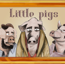 Three little pigs - short animation film - design. A Animation project by francisco lanca - 28-11-2014