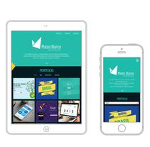 Portfolio Responsivo. Un proyecto de Diseño Web de Mateo Blanco - 14-12-2014
