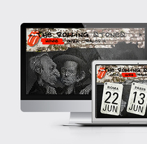 Site gira Rolling Stones. A Design, Graphic Design, and Web Design project by Paloma Alcázar Morán         - 18.05.2014