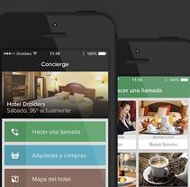 Concierge para iOS. Um projeto de UI / UX, Br, ing e Identidade e Design interativo de Álvaro Bernal Nicolás - 21-12-2014
