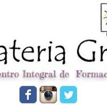 Tarjeta de visita escuela Materia Griz. Un proyecto de Br e ing e Identidad de Luciana Garcilazo - 04-05-2013