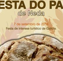 """Concurso """"Festa do pan de Neda 2014"""". Un proyecto de Diseño, Ilustración y Diseño gráfico de Ana Mouriño - 09-09-2014"""