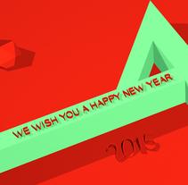 NEW YEAR 2015. Un proyecto de 3D, Animación y Dirección de arte de NUDO Motion Design Studio         - 08.01.2015