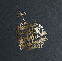 Lettering de Navidad. A Graphic Design, T, pograph, and Calligraph project by Laura Sala         - 08.01.2015