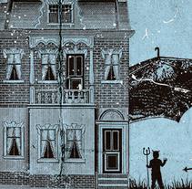 5º ANIVERSARIO LA RESIDENCIA | poster. Un proyecto de Diseño, Ilustración, Publicidad, Diseño gráfico y Serigrafía de alejandro escrich - 14-11-2014