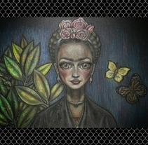 Mi Frida. Un proyecto de Ilustración, Bellas Artes y Pintura de Soraya Fernandez Albarral - 01-02-2015