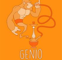 Genio trabajando. Un proyecto de Ilustración, Diseño de personajes y Diseño gráfico de Laura Núñez Carpintero - 02-02-2015