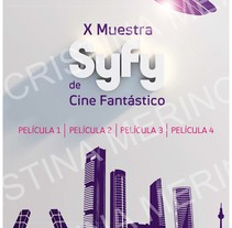 Propuestas Syfy (Décima muestra de cine fantástico). Un proyecto de Diseño gráfico de Cristina Merino         - 11.02.2015