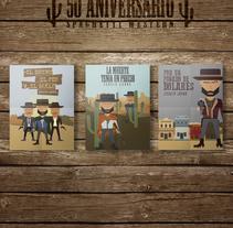 POSTERS SPAGHETTI WESTERN ''50 ANIVERSARIO''. A Design, Illustration, Film, Video, TV, Character Design, and Graphic Design project by Carlos Matilla - 13-02-2015