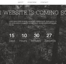 Templeate Countdawn. Un proyecto de Informática, Diseño Web y Desarrollo Web de Andreu Sorolla Casas         - 24.02.2015