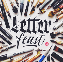 Letter Feast. A Calligraph project by Joan Quirós - 01-03-2015