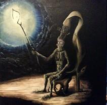 "Pintura al Óleo - ""Abuelo"" Dedicado a ""Josep Bassas"". Um projeto de Pintura de Dani Mercado         - 11.06.2012"