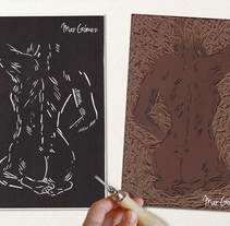 Grabado Linoleo. Um projeto de Design, Ilustração, Artesanato, Artes plásticas, Design gráfico e Serigrafia de Mar Gómez         - 09.03.2015