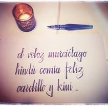 Aquí está lo primero que he hecho..... A Calligraph project by Antonia Marco Pérez         - 12.03.2015