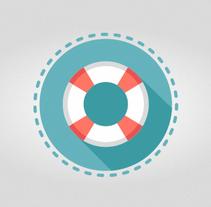 Travel icons set. Um projeto de Ilustração, UI / UX, Direção de arte, Design gráfico e Web design de ▼ Pat Ba ▼  - 14-03-2015