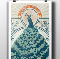 Cartel concierto Florence + The Machine para el curso Ilustración para music lovers. Um projeto de Design, Ilustração e Design gráfico de Delia Ruiz         - 20.03.2015
