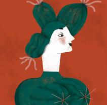 Puzzle set Tres Mujeres Cactus. Un proyecto de Ilustración y Diseño de personajes de Raquel Feria Legrand         - 08.02.2015