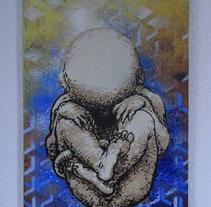 Fetus Da Vinci. Um projeto de Ilustração, Artesanato, Artes plásticas, Design gráfico e Pintura de CHRIS MILLA /1D34L         - 24.03.2015