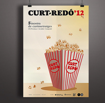 Curt Redó Film Festival. A Design, Art Direction, and Graphic Design project by Àngela Curto - 03-05-2012