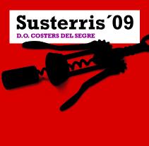 Etiquetas de vino Susterris para Carles Abellán. A Design project by Carlos Fort Garcia         - 07.05.2015