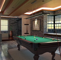 Billiard Room. A Architecture, Furniture Design, Interior Architecture&Interior Design project by Toni Busquets Caparrós         - 07.05.2015