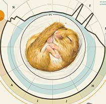 Hazel Dormouse - Muscardinus avellanarius. Um projeto de Ilustração de Clara Prieto         - 13.05.2015