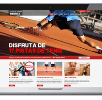 CLUB TENNIS BERNAT . A Design, Web Design, and Web Development project by Joana Millán Marcoval - 18-03-2015