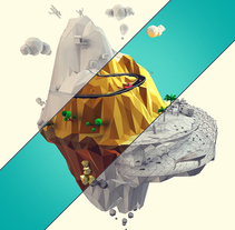 Low poly mountain. A 3D, Art Direction, Graphic Design, and Sculpture project by Francisco Cabezas         - 30.05.2015