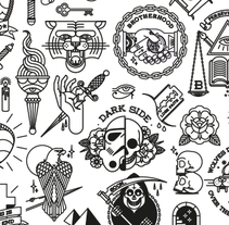 Tattoo Flash 2. Un proyecto de Diseño, Diseño gráfico e Ilustración de Bnomio ™ - Martes, 02 de junio de 2015 00:00:00 +0200